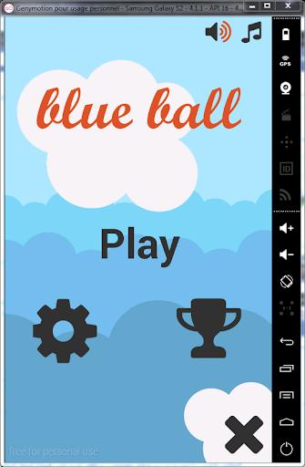 Blue Ball Jumping Ball