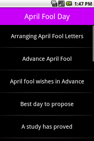 April Fool Day - screenshot