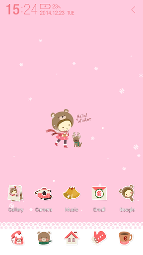 Winter Girl Atom Theme