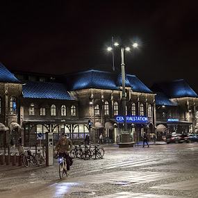 Gotemburg Central station by Giuseppe Ciaramaglia - City,  Street & Park  Street Scenes ( cycles, station sweden, travel, gotemburg )