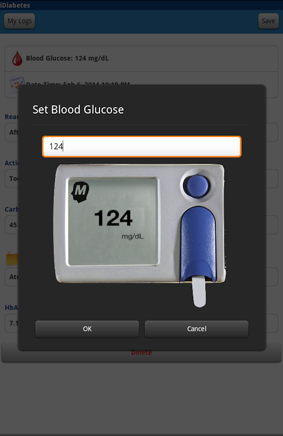 iDiabetes App: Glucose Tracker- screenshot