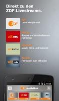 Screenshot of ZDF-App