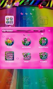 Rainbow Zebra for GO Launcher- screenshot thumbnail
