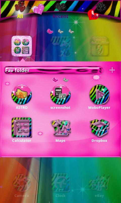 Rainbow Zebra for GO Launcher- screenshot