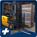 forklift 3D harbor challenge icon