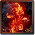 Fire Flower Parallax LWP icon
