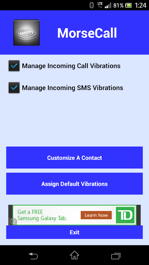 MorseCall Custom Vibrations- screenshot