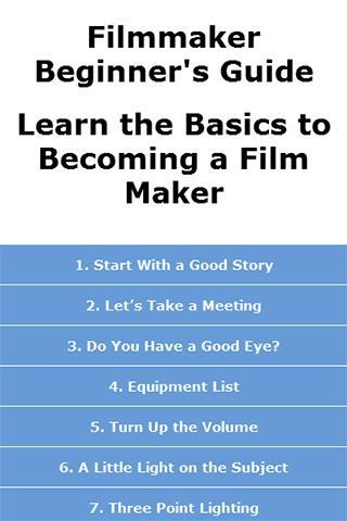Filmmaker Beginner's Guide