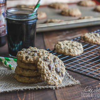 Chocolate Chip Oatmeal Stout Cookies.
