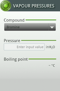 Vapour Pressures - screenshot thumbnail