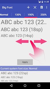 Big Font (change font size) - screenshot thumbnail