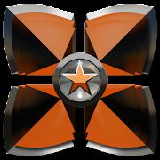 Next Launcher theme Orange Sta icon