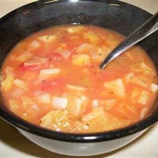 Cabbage, Potato, and Tomato Soup.