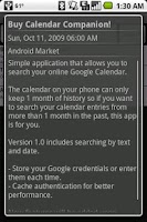 Screenshot of Calendar Companion (Search)