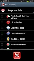 Screenshot of Singapore Currency Converter