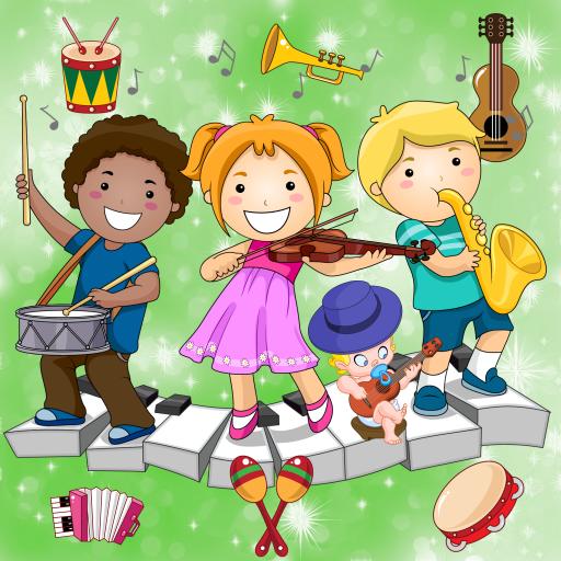 音樂遊戲的孩子 樂器 ! 教育 App LOGO-硬是要APP