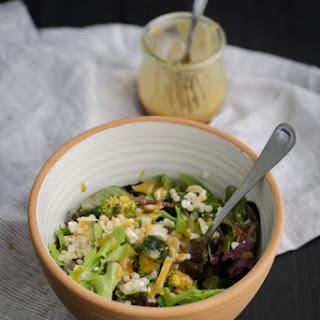 Roasted Broccoli Salad with Tahini Dressing.