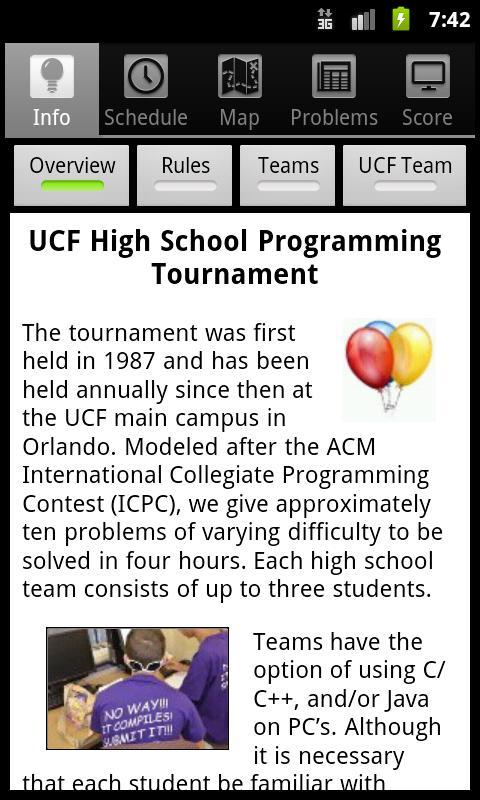 UCF HSPT- screenshot