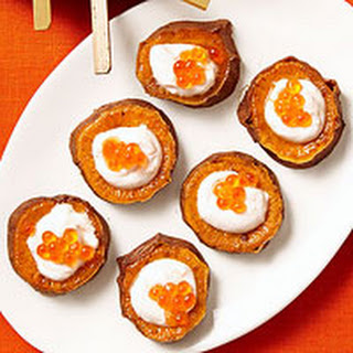 Sweet Potatoes with Salmon Roe