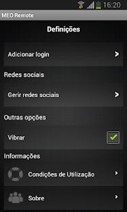 MEO Remote- screenshot thumbnail