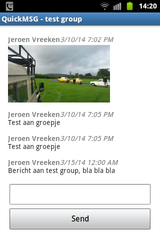 QuickMSG- screenshot
