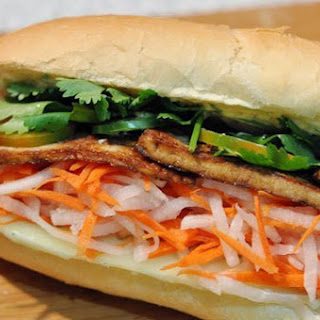 Bánh Mì with Lemongrass Tofu.