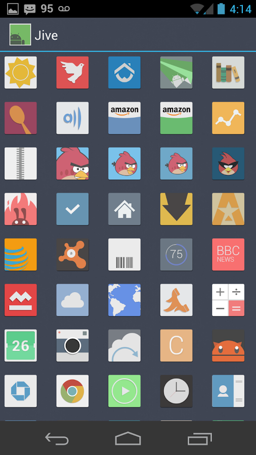 Jive Icons (Apex, Nova, ADW) - screenshot
