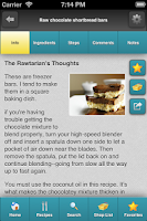 Screenshot of Rawtarian's Raw Recipes
