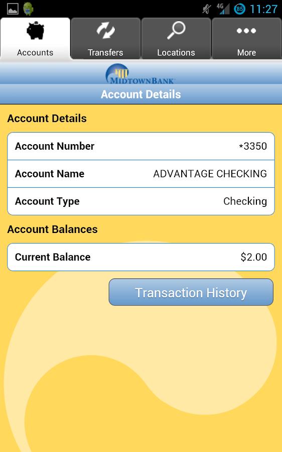 Midtown Bank Mobile Banking - screenshot