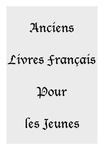 Anciens Livres Francais Jeunes