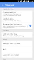 Screenshot of GO SMS Pro Hungarian language