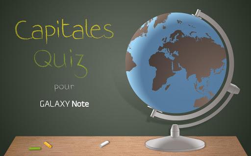 Capitales Quiz sur Galaxy Note