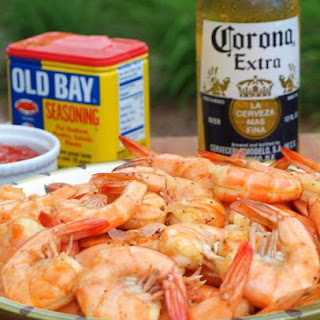 Peel n' Eat Shrimp with Homemade Cocktail Sauce.