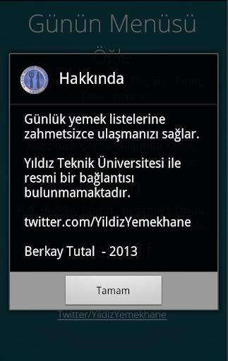 玩生產應用App|Yıldız Teknik Yemekhane免費|APP試玩