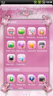 Pink Roses GO SMS Theme- screenshot thumbnail