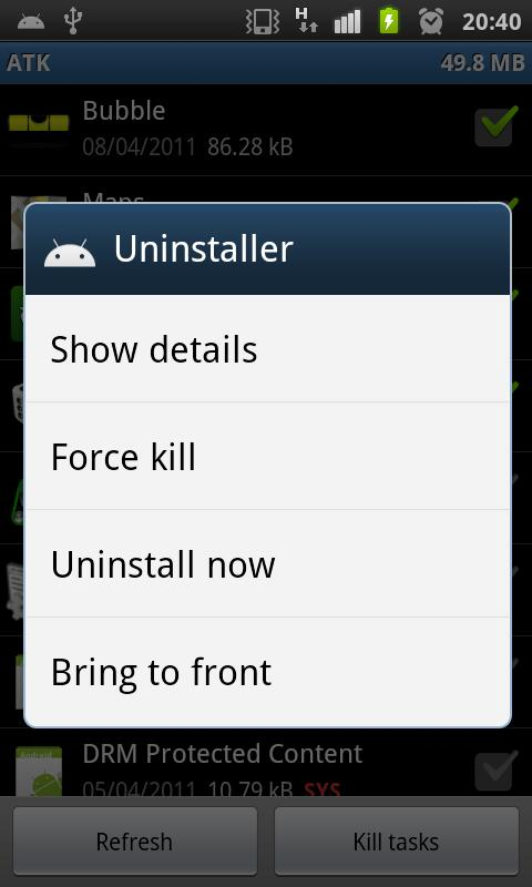 Android Task Killer Free - screenshot