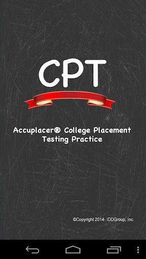 Accuplacer ® CPT College Test