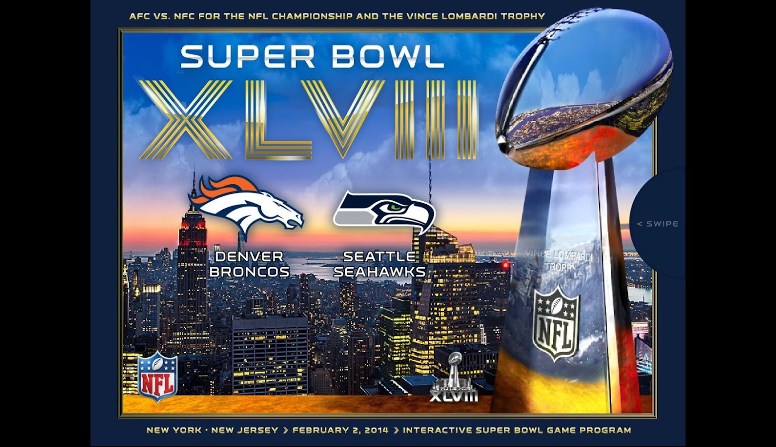 Super Bowl XLVIII Game Program - screenshot
