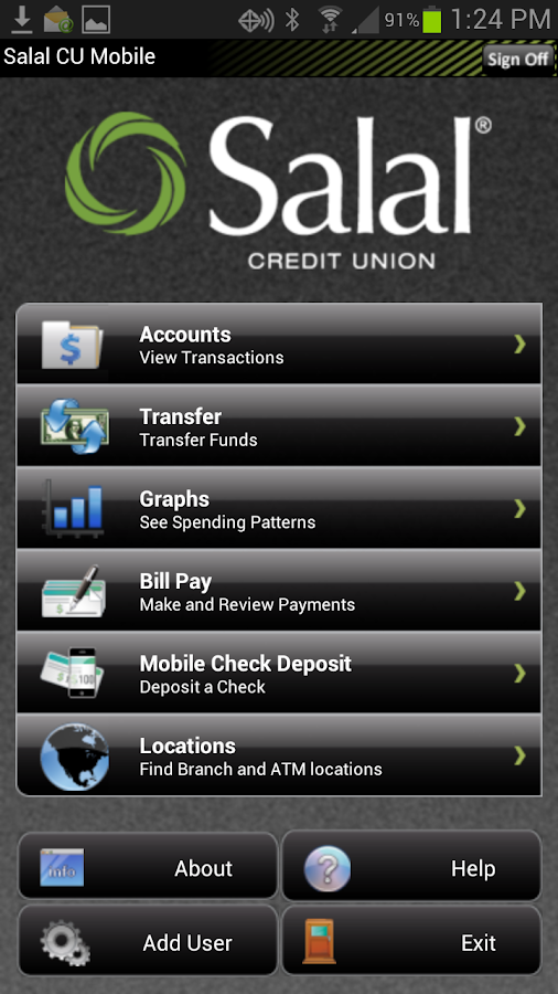 Salal CU - Mobile Banking - screenshot