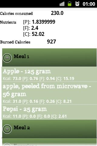 Check Calories- screenshot