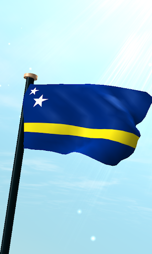Curaçao Flag 3D Free Wallpaper