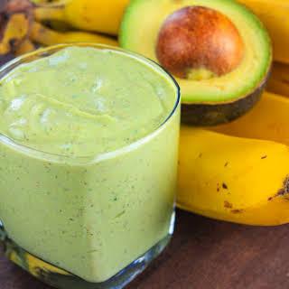 Avocado Banana Kiwi Kale Smoothie.