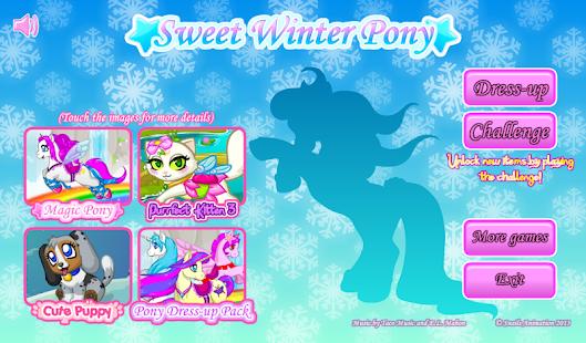 Sweet Winter Pony