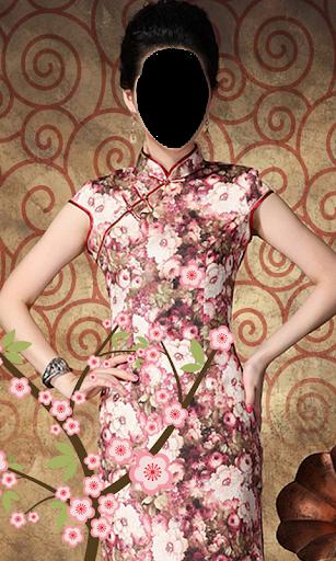 Chinese Dress Photo Montage