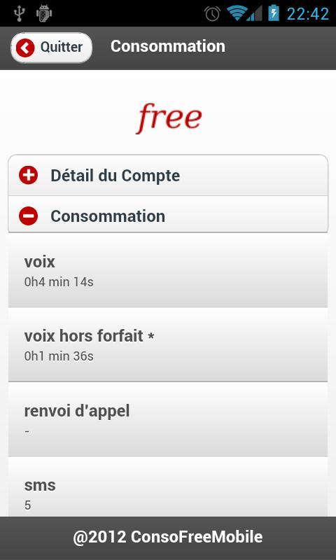 Suivi Conso Free Mobile- screenshot