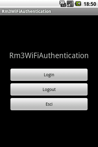 Rm3WiFiAuthentication - screenshot