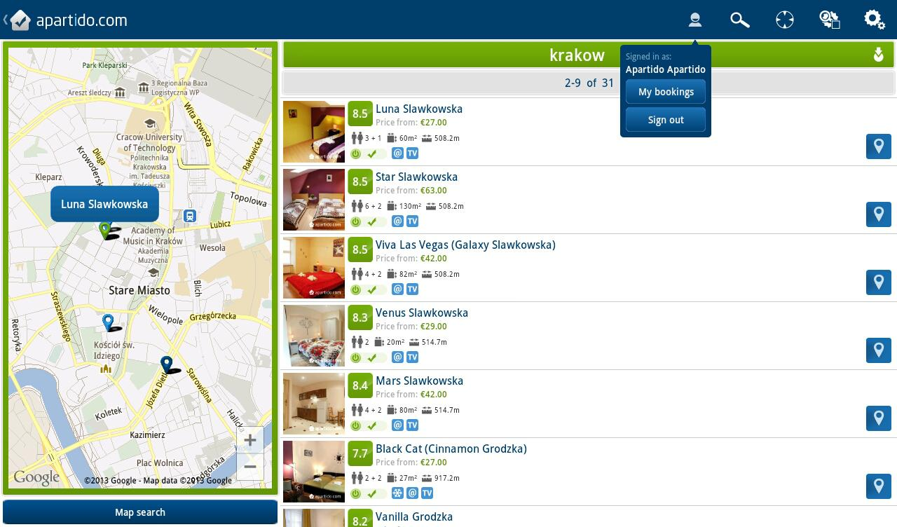 Apartment and Property Rentals - screenshot