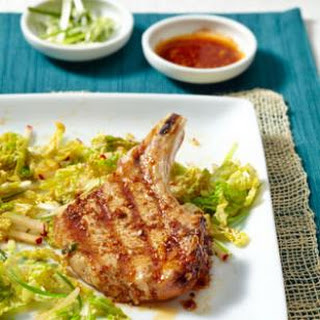 Korean-Spiced Pork Chops & Slaw for Two