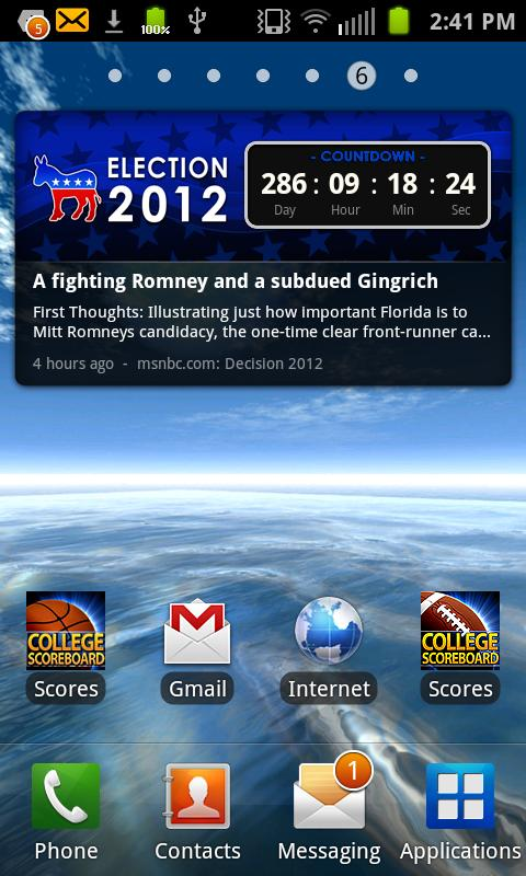 Election 2012 Countdown Dem - screenshot