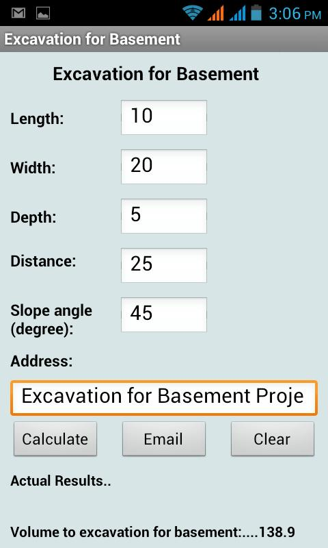 Excavation backfill basement android apps on google play for Soil removal calculator